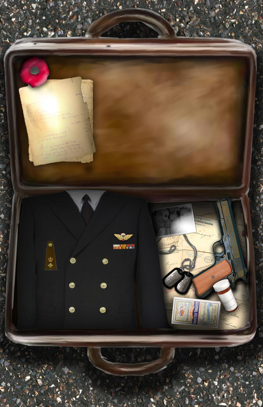 Rememberance suitcase by frankhong