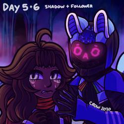 frithtober - shadow + follower
