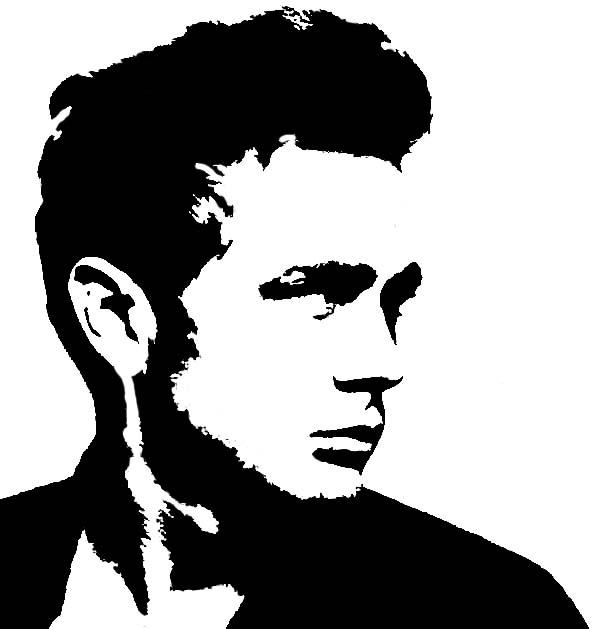 james dean black and white painting - photo #18