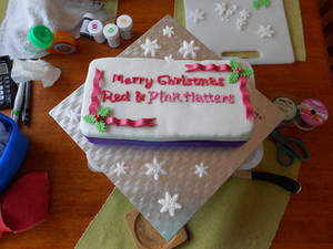 Red Hatters Christmas cake