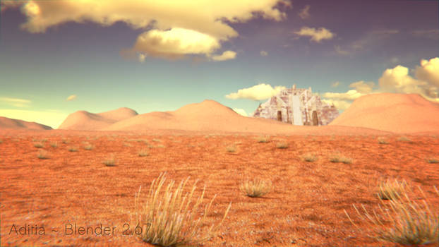 Ziggurat in the desert