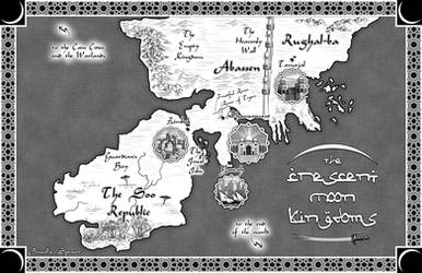 Crescent Moon Kingdoms Map