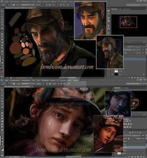 Clementine and Kenny WIP