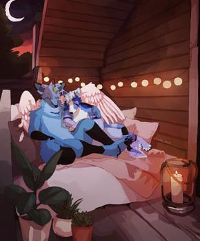 [commission] cozy garden