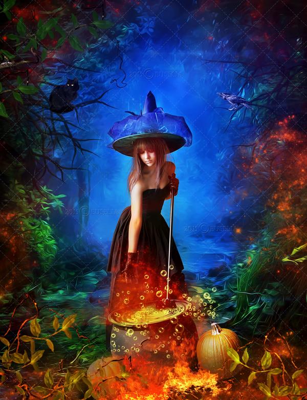 Happy Halloween 2015 by Euselia