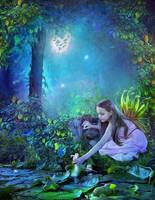 A Peaceful Garden of Fairies by Euselia