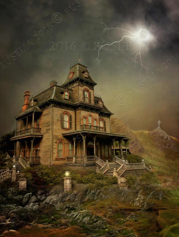 Phantom Manor at night by Euselia