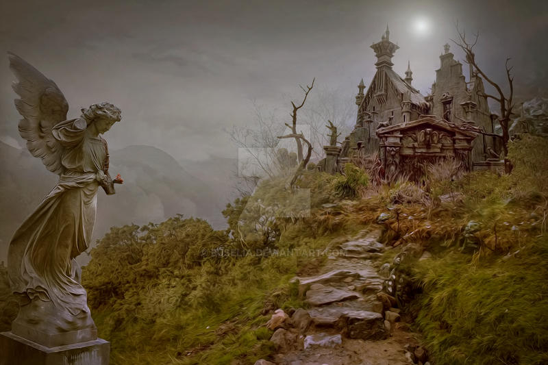 Premade background - GothicCastle6 by Euselia