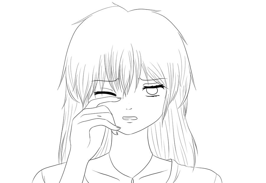 Cry Lineart By Immzym123 On Deviantart