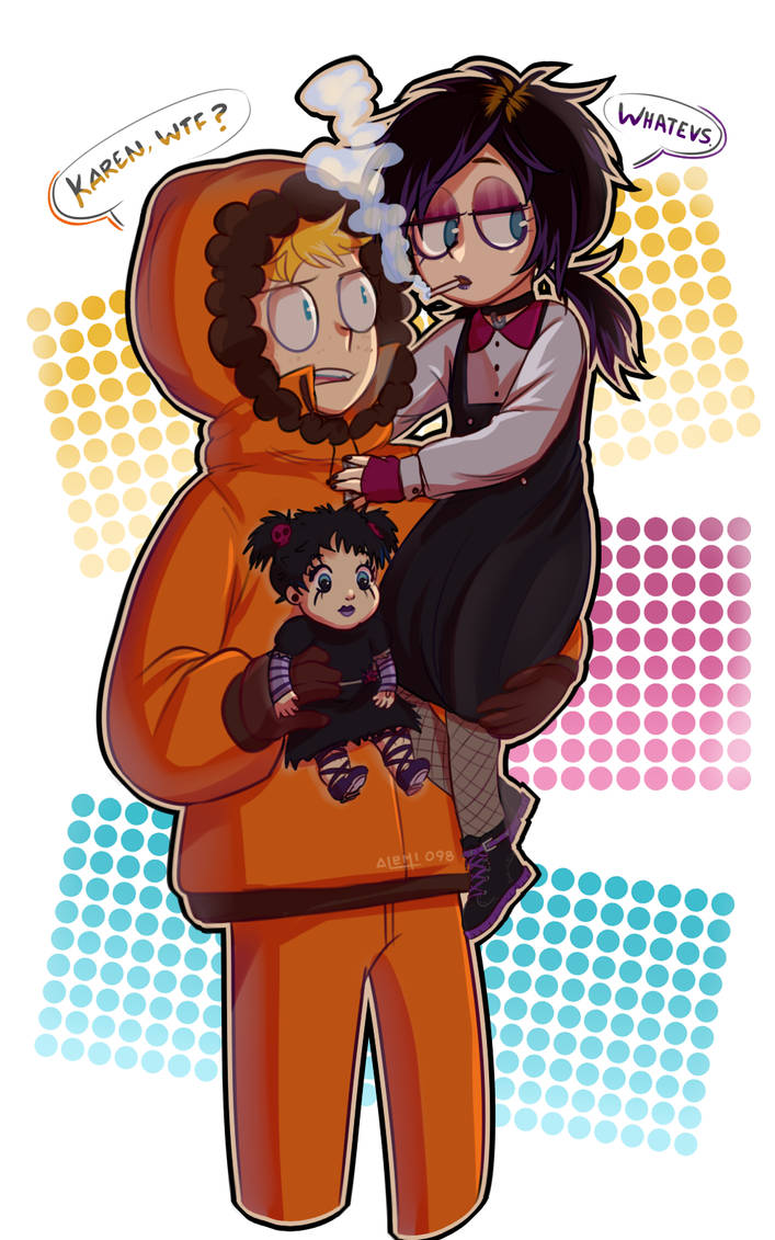 South Park| Goth dollie |Karen y Kenny McCormick by LaliChan94 on