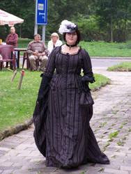 Victorian Margueritte in striped gown by MargueritteWeinlich