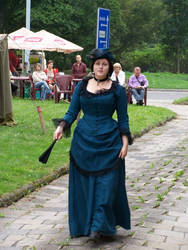 Victorian Margueritte in blue gown by MargueritteWeinlich