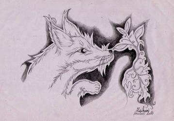 Tuax's Fox by MargueritteWeinlich