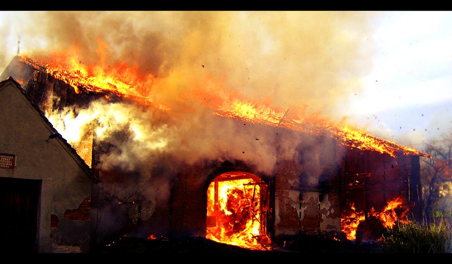 Burning building 3 by niwet on DeviantArt