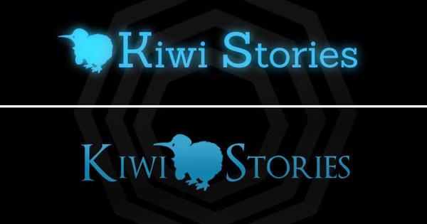 Text Logo - Kiwi Stories by AlexHorakDesigns