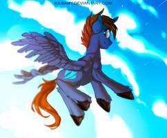 Sketch commission - Headlong Flight by ka-samy
