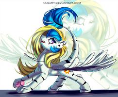 Sketch commission for fluffyzecloud by ka-samy