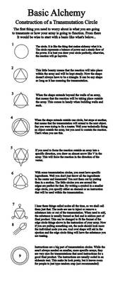 Transmutation Circle Tutorial by Notshurly