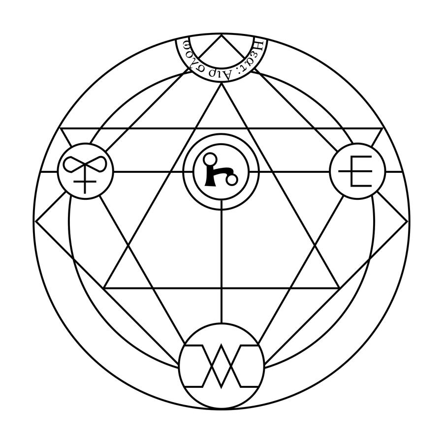 how to draw a transmutation circle