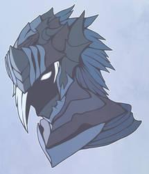 Dark knight's helmet by AbyssWatchers