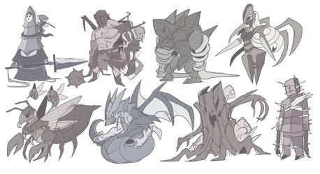 Enemies Design by AbyssWatchers