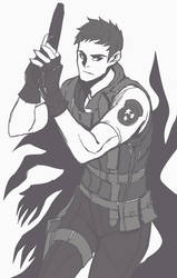 Chris Redfield by AbyssWatchers