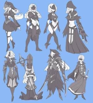 Dark church / character designs