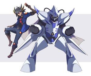 Yusei Fudo and Junk Speeder