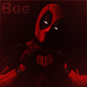 Deadpool Profile Picture Red by Rosey-Rose