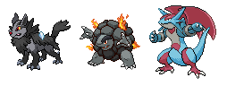 Mega Mightyena, Mega Golem and Mega Salamence by S-Yaridovich9X
