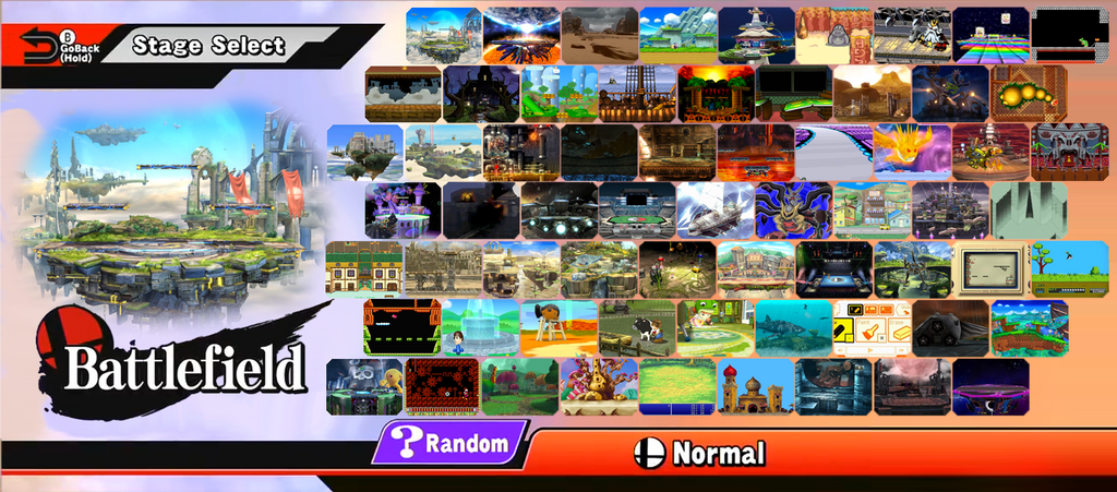 Super Smash Bros. 5 - Custom Stage Select Roster by SuperYaridovich999