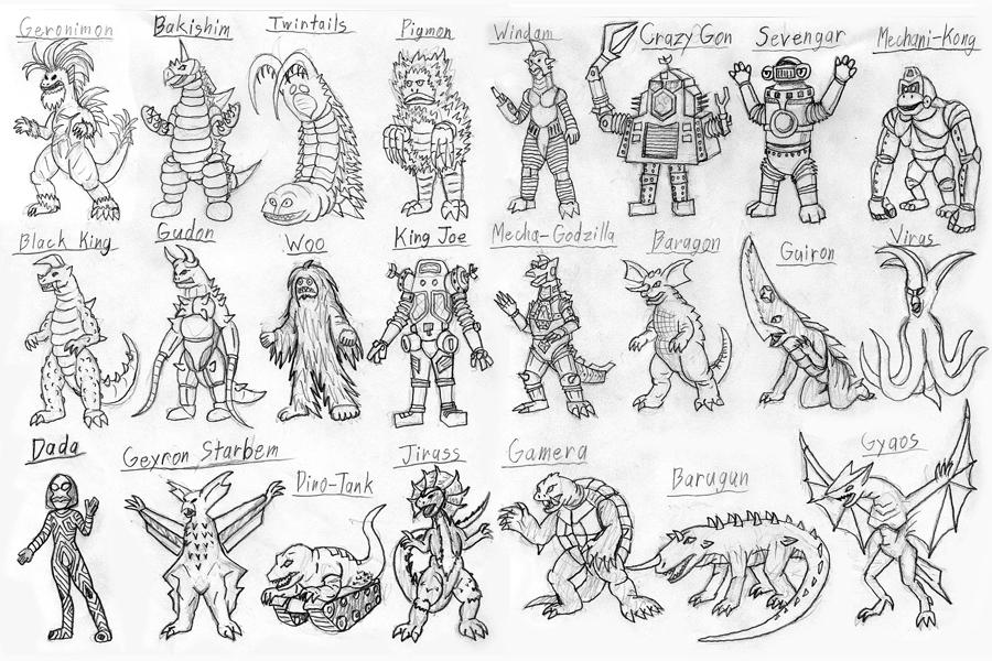 More Monster Gang By Strangefour On DeviantArt