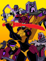 Stunticons Assemble by strangefour