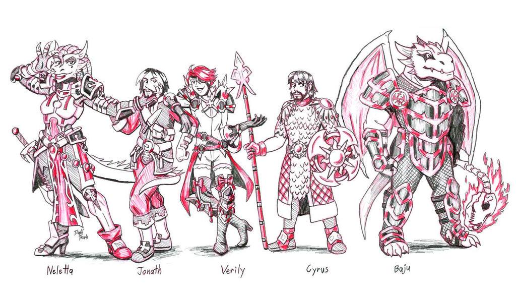 Dungeons and Dragonborn: Basic Baddies by strangefour
