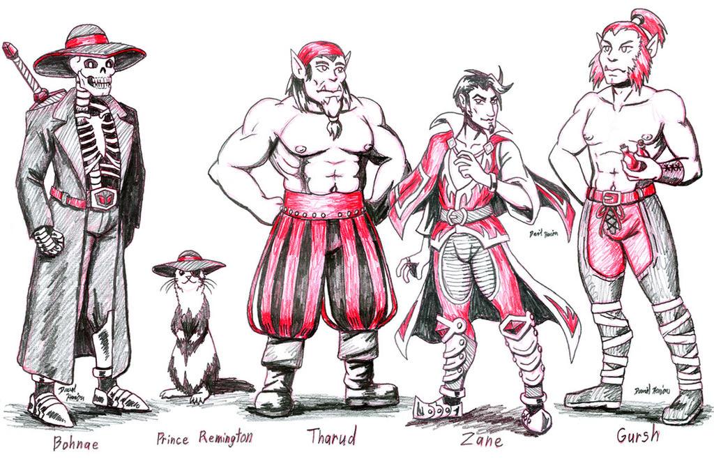 Dungeons and Dragonborn: Etzino NPCs by strangefour