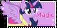Twilight Sparkle Alicorn Stamp by NightSilverChelly