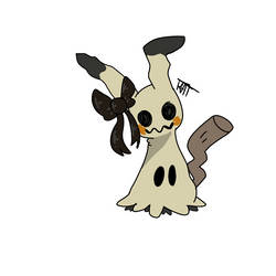 Mimikyu with a bow! by HamsterMoonpie