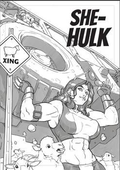 She-Hulk Fan Art - Inked