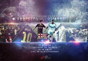 El Clasico Barcelona vs Real Madrid by fisalaliraqi