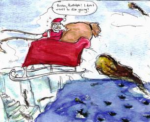Santa at the North Pole by avatarmirai