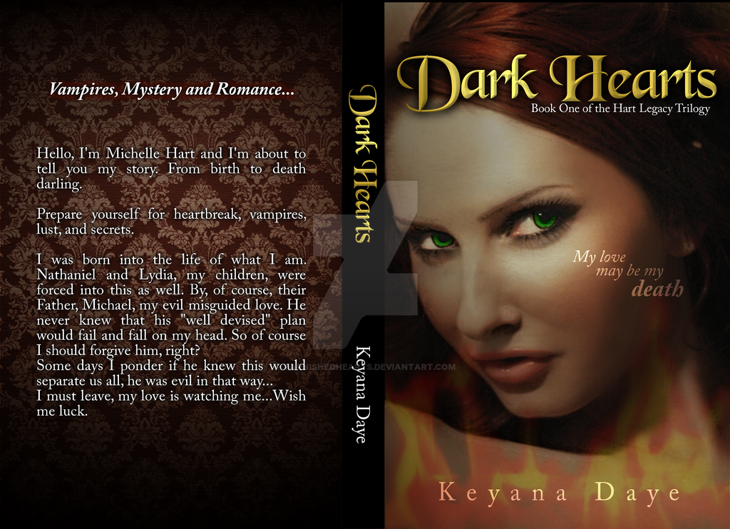 Dark Hearts NovelCover Concept by TarnishedHearts