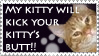 Butt Kickin' Kitty Stamp by stamps-club