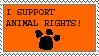 I support animal rights by stamps-club