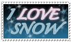 Love Snow Stamp - MyStamps by stamps-club