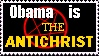 Obama Is The Antichrist Stamp by stamps-club