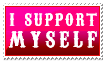 I Support Myself - Foxxie-Chan by stamps-club