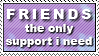 Friends Support - Foxxie-Chan by stamps-club