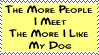 I Love My Dog- student-4-ever by stamps-club