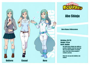 [BnHA OC] Shinju Abe Reference Sheet by Saccharinerose