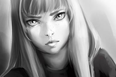 BnW Portrait Practice by roscheri